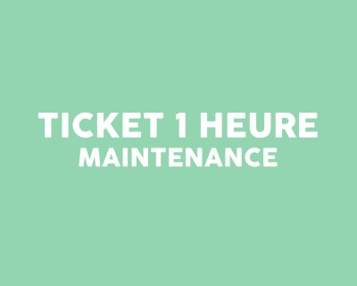 Ticket intervention 1 heure
