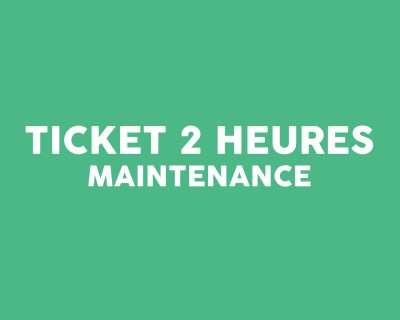 Ticket intervention 2 heures