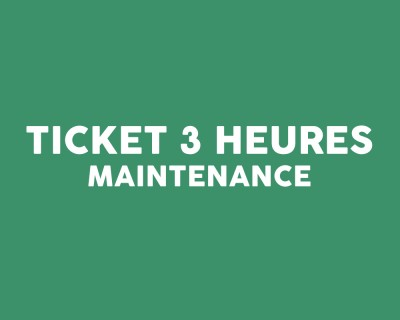 Ticket intervention 3 heures